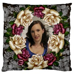 Roses And Lace Standard Flano Case (2 Sided) By Deborah   Standard Flano Cushion Case (two Sides)   J33dw6don9ii   Www Artscow Com Front
