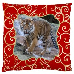 Red And Gold Standard Flano Case (2 Sided) By Deborah   Standard Flano Cushion Case (two Sides)   521fz312x8v0   Www Artscow Com Front