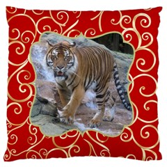 Red And Gold Standard Flano Case (2 Sided) By Deborah   Standard Flano Cushion Case (two Sides)   521fz312x8v0   Www Artscow Com Back