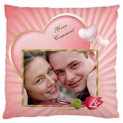 Pink Heart Standard Flano Case (2 Sided) By Deborah   Standard Flano Cushion Case (two Sides)   F9n55obx71pu   Www Artscow Com Front