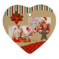 Xmas By Xmas4   Heart Ornament (two Sides)   7m3c8qjttout   Www Artscow Com Back