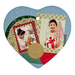 Xmas By Xmas4   Heart Ornament (two Sides)   Ai4qhb1v3kth   Www Artscow Com Front