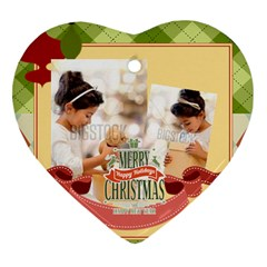 Xmas By Xmas4   Heart Ornament (two Sides)   H2ephbn2t1st   Www Artscow Com Front