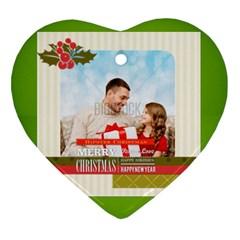 Xmas By Xmas4   Heart Ornament (two Sides)   U17313dzca2y   Www Artscow Com Front