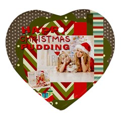 Xmas By Xmas4   Heart Ornament (two Sides)   Dslc8gpodk68   Www Artscow Com Front