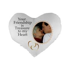 Friendship Standard Heart Cushion By Deborah   Standard 16  Premium Flano Heart Shape Cushion    4c3wxduc02z4   Www Artscow Com Back