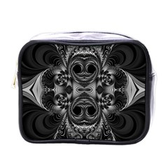 Blackened  Mini Travel Toiletry Bag (one Side) by OCDesignss