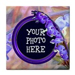 Purple Bleeding Heart Tile Coaster