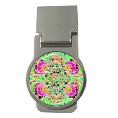 Florescent Abstract  Money Clip (round) by OCDesignss