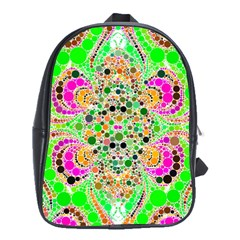 Florescent Abstract  School Bag (large) by OCDesignss