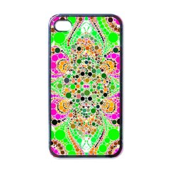 Florescent Abstract  Apple Iphone 4 Case (black) by OCDesignss