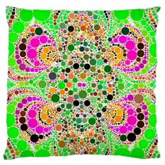 Florescent Abstract  Standard Flano Cushion Case (one Side) by OCDesignss