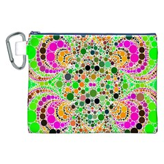 Florescent Abstract  Canvas Cosmetic Bag (xxl) by OCDesignss