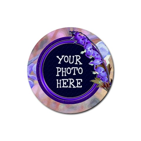 Purple Bleeding Heart Rubber Coaster Round By Chere s Creations   Rubber Coaster (round)   Gx62243qqwmz   Www Artscow Com Front