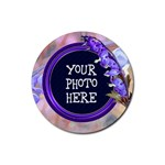 Purple Bleeding Heart Rubber Coaster Round - Rubber Coaster (Round)