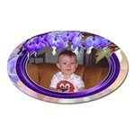 Purple Bleedingheart Magnet Oval - Magnet (Oval)