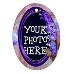 Purple Bleedingheart Ornament Oval - Ornament (Oval)