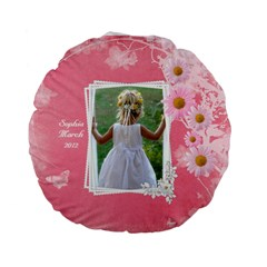 Little Princess Standard Flano Round Cushion By Deborah   Standard 15  Premium Flano Round Cushion    5zgr1ymd34ue   Www Artscow Com Front