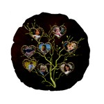 Family Tree Standard Flano Round Cushion - Standard 15  Premium Flano Round Cushion