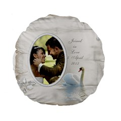 Our Love Standard Flano Round Cushion By Deborah   Standard 15  Premium Flano Round Cushion    Gkby823juoed   Www Artscow Com Back