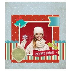 Xmas By Xmas   Drawstring Pouch (large)   7tom3opp1ngw   Www Artscow Com Back