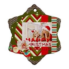 Xmas By Xmas4   Snowflake Ornament (two Sides)   5o8o0pw9uq8l   Www Artscow Com Front