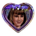 Purple Bleedingheart Heart Ornament Two Sides - Heart Ornament (Two Sides)