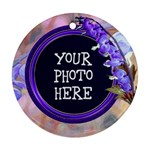 Purple Bleedingheart Round Ornament Two Sides - Round Ornament (Two Sides)