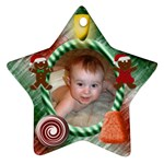 Candy Christmas Star Ornament Two Sides - Star Ornament (Two Sides)