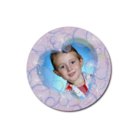 Bubble Rubber Coaster Round By Chere s Creations   Rubber Coaster (round)   Pli3z1w8gn5m   Www Artscow Com Front