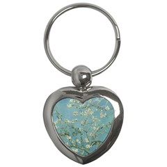 Vincent Van Gogh, Almond Blossom Key Chain (heart) by Oldmasters