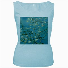 Vincent Van Gogh, Almond Blossom Women s Tank Top (baby Blue) by Oldmasters