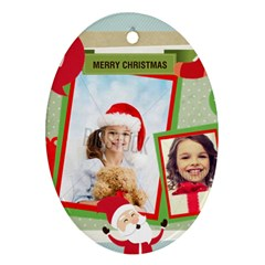 Xmas By Xmas4   Oval Ornament (two Sides)   Kifm321tfw8v   Www Artscow Com Front