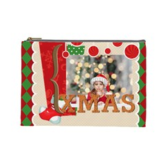 Xmas By Xmas4   Cosmetic Bag (large)   B5nbz3q1mer0   Www Artscow Com Front