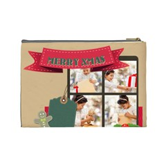 Xmas By Xmas4   Cosmetic Bag (large)   K8zzie74j2ny   Www Artscow Com Back