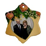 Zed 2014 Snowflake Ornament (2 sided) - Snowflake Ornament (Two Sides)