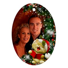 Our Family Sing Merry Christmas (2 Sided) Ornament By Deborah   Oval Ornament (two Sides)   Tz7hxiljbc4i   Www Artscow Com Back