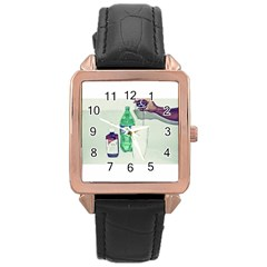 Dirty $prite Rose Gold Leather Watch  by FastMoneyInc
