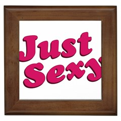 Just Sexy Typographic Quote002 Framed Ceramic Tile by dflcprints