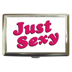 Just Sexy Typographic Quote002 Cigarette Money Case by dflcprints