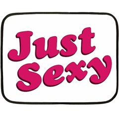 Just Sexy Typographic Quote002 Mini Fleece Blanket (two Sided) by dflcprints