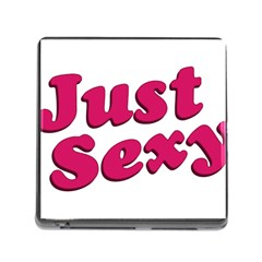 Just Sexy Typographic Quote002 Memory Card Reader With Storage (square) by dflcprints