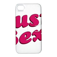 Just Sexy Typographic Quote002 Apple Iphone 4/4s Hardshell Case With Stand by dflcprints