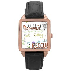 D0gaholic Rose Gold Leather Watch  by Contest1918526