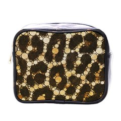 Cheetah Abstract  Mini Travel Toiletry Bag (one Side) by OCDesignss