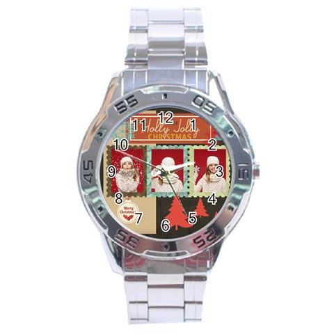 Xmas By Xmas   Stainless Steel Analogue Watch   8ag2q1bqa0bj   Www Artscow Com Front