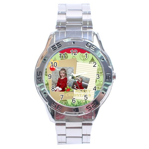 Xmas By Xmas   Stainless Steel Analogue Watch   8k1cd94l6pyg   Www Artscow Com Front
