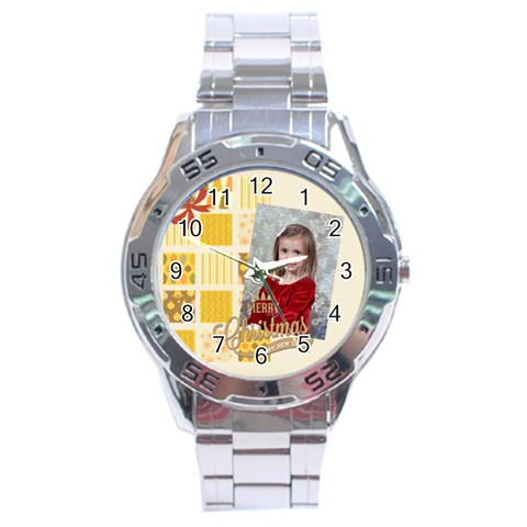 Xmas By Xmas   Stainless Steel Analogue Watch   Rgedz9442y5e   Www Artscow Com Front