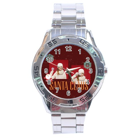 Xmas By Xmas   Stainless Steel Analogue Watch   R634j9mbe7o8   Www Artscow Com Front