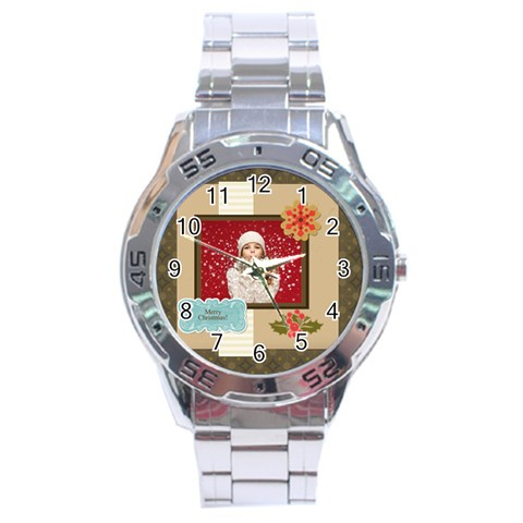 Xmas By Xmas   Stainless Steel Analogue Watch   Gibpzx82m7rs   Www Artscow Com Front